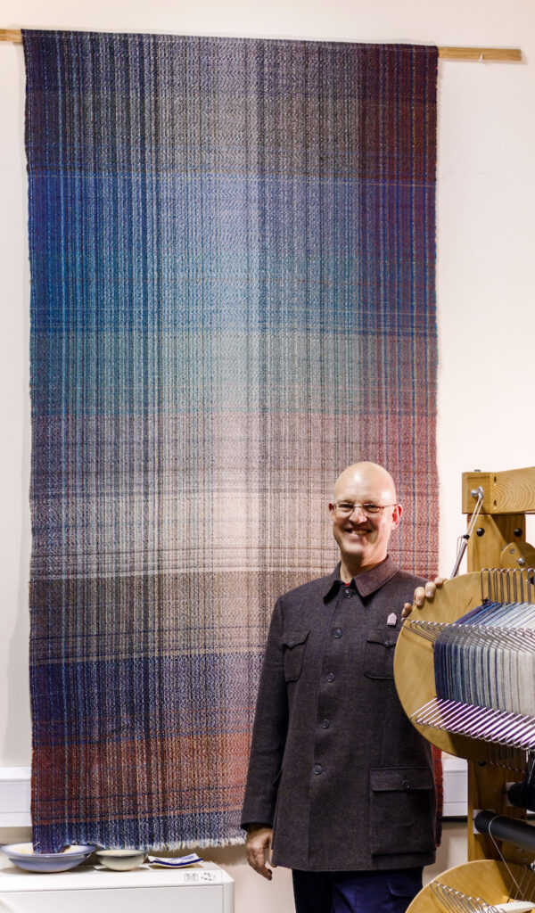 Andy Ross with Shetland Tweed Autumn cloth